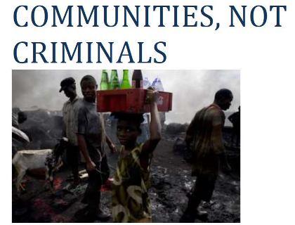 Publication – COMMUNITIES NOT CRIMINALS.